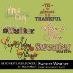 Sweater Weather WordArt Pack-$2.49 (Laura Burger)