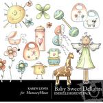Baby Sweet Delights Embellishment Pack-$3.50 (Karen Lewis)