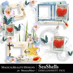 SeaShells Cluster Frames Pack-$1.99 (MagicalReality Designs)
