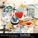 SeaShells Embellishment Pack-$1.75 (MagicalReality Designs)