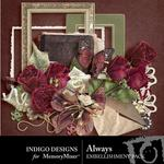 Always Embellishment Pack-$2.99 (Indigo Designs)