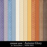 Autumn Glory Pattern Paper Pack-$1.99 (Lindsay Jane)