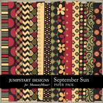 September Sun Patterned Paper Pack-$3.49 (Jumpstart Designs)