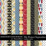 My Project September Patterned Paper Pack-$3.49 (Laura Burger)