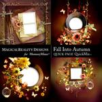 Fall Into Autumn QuickPage 2-$3.49 (MagicalReality Designs)