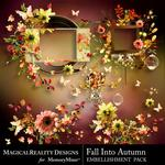 Fall Into Autumn Cluster Pack 2-$2.49 (MagicalReality Designs)