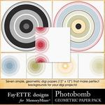 Photobomb Geometric Paper Pack-$2.10 (Fayette Designs)