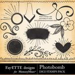 Photobomb Digi Stamps Pack-$1.40 (Fayette Designs)