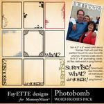Photobomb Word Frames Pack-$1.40 (Fayette Designs)