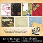 Photobomb Journaling Cards Pack-$1.99 (Fayette Designs)