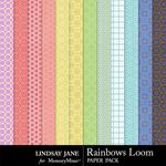 Rainbows Loom Pattern Paper Pack-$1.99 (Lindsay Jane)