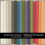 Settling in to Autumn Solid Paper Pack-$3.49 (Jumpstart Designs)