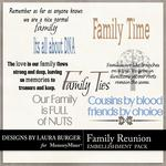 Family Reunion WordArt Pack-$2.49 (Laura Burger)