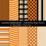 FaBOOlous Paper Pack 3-$1.49 (Lasting Impressions)