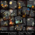 Wizard of the Night Book Square QM-$5.00 (MagicalReality Designs)
