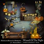 Wizard of the Night Cluster Pack 3-$1.99 (MagicalReality Designs)