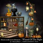 Wizard of the Night Cluster Pack 2-$1.99 (MagicalReality Designs)