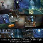 Wizard of the Night Paper Pack 2-$2.00 (MagicalReality Designs)