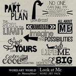 Look at Me WordArt Pack-$2.49 (Word Art World)