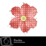 Shabby Flower Red Freebie-$0.00 (Karen Lewis)