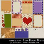 Love Peanut Butter Journal Cards-$1.99 (Lindsay Jane)