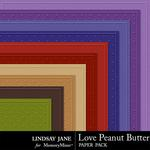 Love Peanut Butter Embossed Paper Pack-$1.99 (Lindsay Jane)