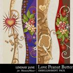 Love Peanut Butter Borders Pack-$1.99 (Lindsay Jane)
