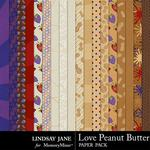 Love Peanut Butter Paper Pack-$2.49 (Lindsay Jane)