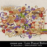 Love Peanut Butter Embellishment Pack-$3.49 (Lindsay Jane)