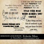 Eclectic LB WordArt Pack-$2.49 (Laura Burger)