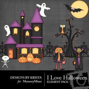 I love halloween elements2 medium