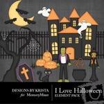 I Love Halloween Add On Emb Pack 1-$2.10 (Designs by Krista)