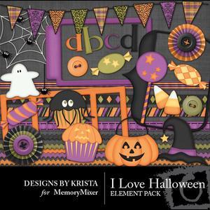I love halloween element1 medium
