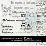 Karma WordArt Pack-$2.49 (Laura Burger)