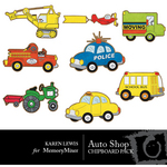 AutoShop Chipboard Cutouts Pack-$2.50 (Karen Lewis)