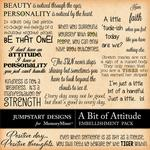 A Bit of Attitude WordArt Pack-$1.75 (Jumpstart Designs)