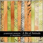 A Bit of Attitude Blended Paper Pack-$3.49 (Jumpstart Designs)
