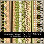 A Bit of Attitude Add On Paper Pack-$2.45 (Jumpstart Designs)