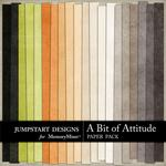 A Bit of Attitude Solid Paper Pack-$2.45 (Jumpstart Designs)