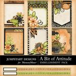 A Bit of Attitude Journal Cards-$1.75 (Jumpstart Designs)