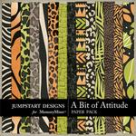 A Bit of Attitude Patterned Paper Pack-$3.49 (Jumpstart Designs)