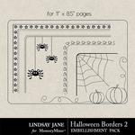 Halloween Borders 2 Landscape-$1.40 (Lindsay Jane)