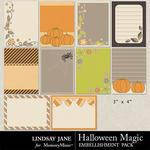Halloween Magic LJ Journal Cards-$1.40 (Lindsay Jane)