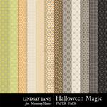 Halloween Magic LJ Pattern Paper Pack-$1.40 (Lindsay Jane)