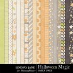 Halloween Magic LJ Paper Pack-$1.75 (Lindsay Jane)