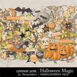 Halloween Magic LJ Embellishment Pack-$2.45 (Lindsay Jane)