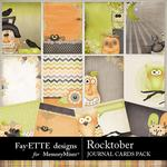 Rocktober Journal Cards Pack-$3.49 (Fayette Designs)