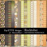Rocktober Patterned Paper Pack-$2.10 (Fayette Designs)