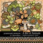 A Bit of Attitude Embellishment Pack-$3.49 (Jumpstart Designs)