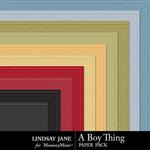 A Boy Thing Embossed Paper Pack-$1.99 (Lindsay Jane)